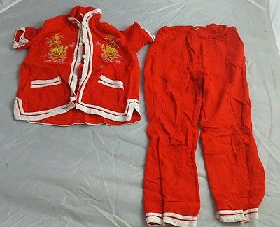 Vintage Infant Girl's 2-Piece Chinese Oriental 4T Outfit