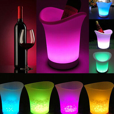 Colour Changing LED ICE Bucket Champagne Win Drinks Cooler Retro Celebrate Party