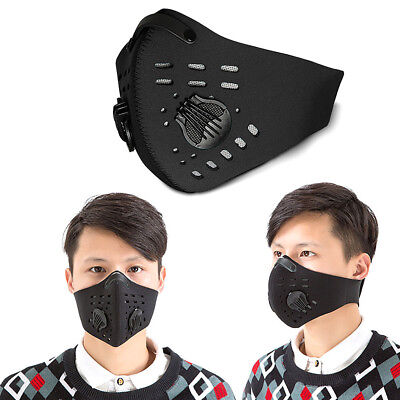 Neoprene Activated Carbon Filter Dust anti-fog Mask Mouth Nose Half Face Cover