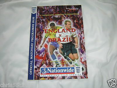 ENGLAND v BRAZIL OFFICIAL MATCHDAY PROGRAMME MAY 2000
