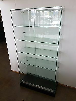Glass Display Cabinet. 1800 x 900 x 450 AVAILABLE NOW. IN STOCK