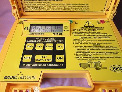 SEW 6211AIN High Voltage 10kV Digital Insulation Resistance Tester