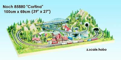 "NOCH 85880 Z Scale Train Layout Form Cortina *USA Dealer39""x27"" ENGLISH Plan DVD"
