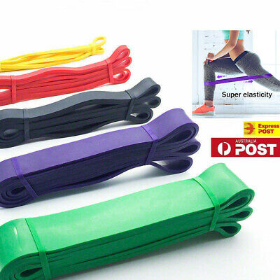 Fitness Exercise Yoga Workout Set Of 5 Heavy Duty Resistance Band Loop