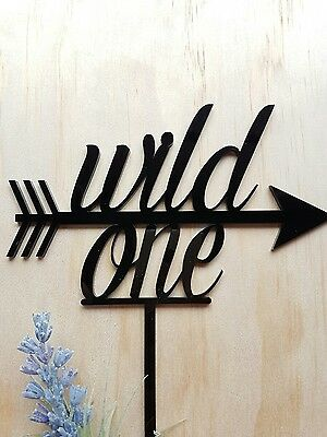 WILD ONE Birthday Cake Topper MADE IN AUSTRALIA Custom Name First 1st Baby Party