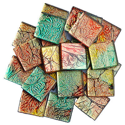 100g 20mm Square Crystal Mosaic Tiles Scrapbooking Vitreous Art & Craft Supplies