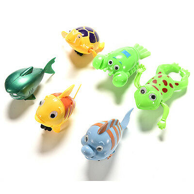 Shower Kids Bath Toys Plastic Baby Wind Up Clockwork Swimming Cartoon Toy RD