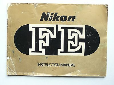 Nikon FE Instruction Manual * Good Used