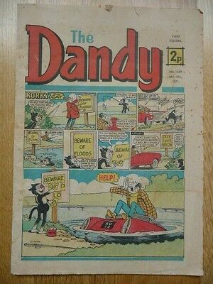 Vintage The Dandy Comic No 1569, Dec.18th, 1971 - Korky the Cat Cover Strip
