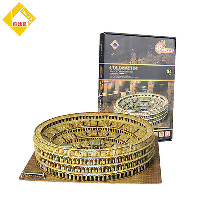Educational 3D-Model Puzzles Jigsaw Roma Colosseum DIY Toys Gifts 84Pcs