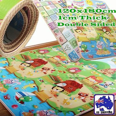 1.2mx1.8m Baby Play Mat Floor Crawling Cushion Double-sided 1CM Thick OCUSH2128