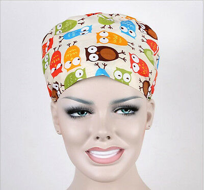 Medical Surgical Scrub Cap Color Flowers Printing Surgery Hat/Cap Doctors/Nurses