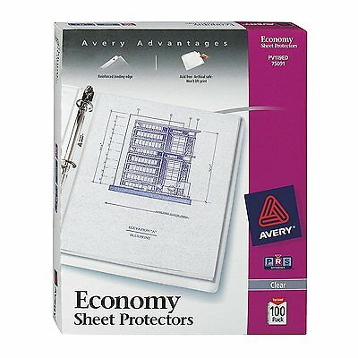 A4 Paper Sheet Protectors Clear 100 Pack Binder File Storage Manuals Schoolwork