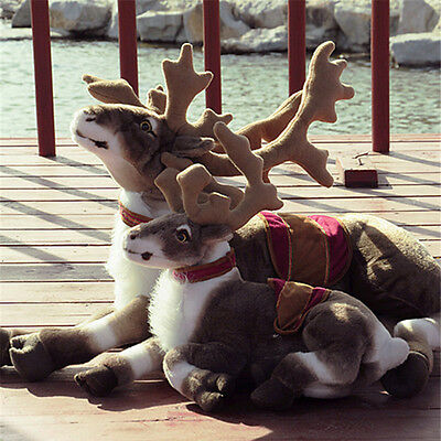 Big Simulated Animal Reindeer Plush Toy Soft Emulational Sika Deer Doll Pillow