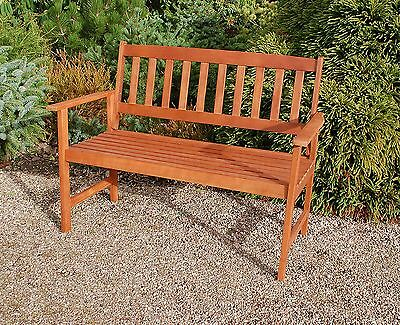 Seater Wooden Garden Bench Seat Chair Outdoor Wood Armchair Patio Furniture New