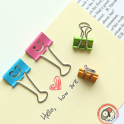 Faces Impression File Paper Clips Metal 25mm Binder X 12 Smiling Office Width