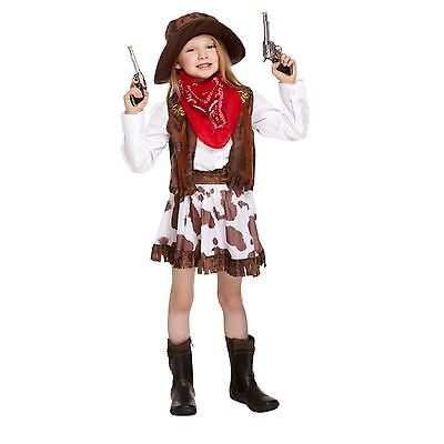 Girls Western Wild Cowgirl Costume Book Week Parties Kids Fancy Dress Outfit