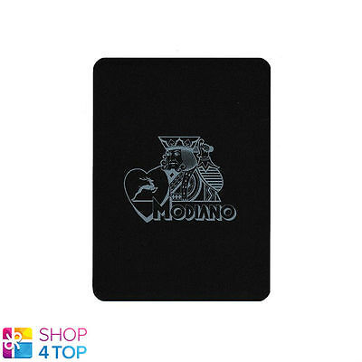 Modiano Cut Card Single Black Plastic Logo Both Sides Single Card Made In Italy