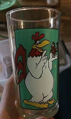 Collectable Nutella Glass Foghorn Leghorn Rooster Cup 1992 Vintage Warner Bros