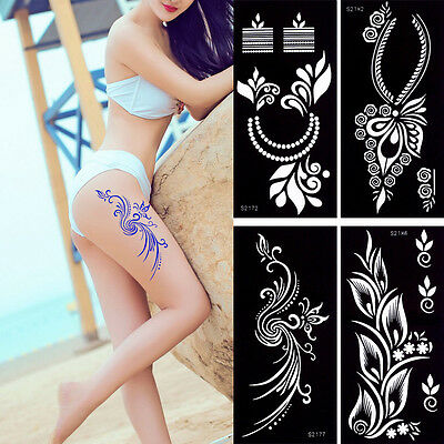 Henna Tattoo Stencil Paste Drawing Moon Star Pattern Body Paint Temporary Makeup