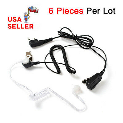2-PIN PTT Earpiece Headset for Kenwood Puxing WEIERWEI Wouxun Baofeng Radio
