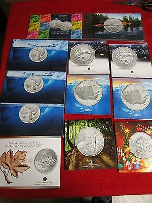 .9999 Silver Bullion Canada Canadian $20 Coin Wholesale Lot 2011, 2012, 2013 hot