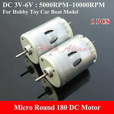 DC3V 5V 6V 10000RPM High Speed Carbon Brush Micro Round 180 DC Motor Toy Car DIY