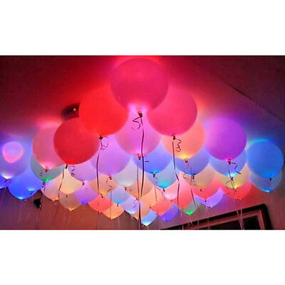 Pack 18/24/48 LED Balloon Light Up Balloons PERFECT PARTY Decor Wedding Birthday