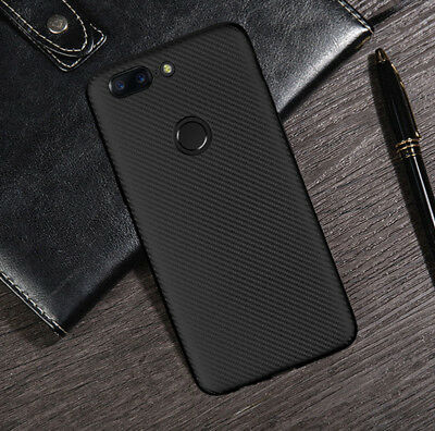 Luxury Slim Carbon Fiber Silicone Soft Protective Case Cover For OnePlus 6 3t 5t