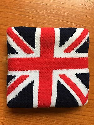 2Pcs Union Jack Great Britain England Cuff Cotton Wrist Fabric Elasticizz