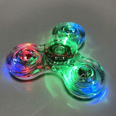 LED Flashing Light Up Night Elf  Fidget Hand Spinner Finger Toys EDC Stress ADHD