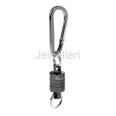 Fly Fishing Strong Pull Release Magnetic Net Clip Keeper Holder Gear Gray