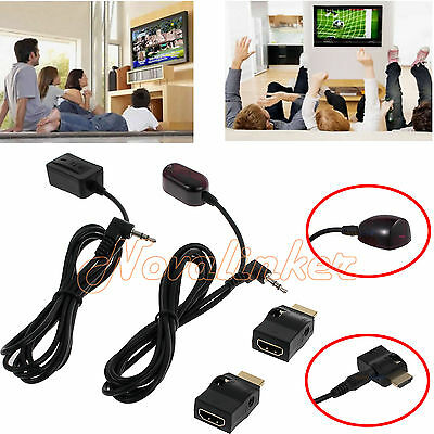 IR Extender Emitter Receiver Infrared Repeater System Cable + HDMI Port For HDTV