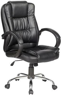 High Back Executive Office Chair Tilt Luxury PU Leather Computer Desk Furniture