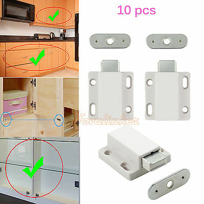 10pcs Magnetic Pressure Push To Open Touch Release Catches Cabinet Doors Catches