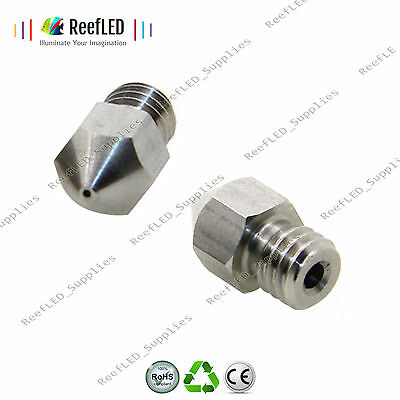 3D Printer MK8 Extruder Nozzle J-Head Stainless Steel Nozzle 0.4,0.6,0.8 -1.75mm