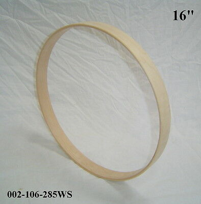 "16"" Maple Bass Drum Hoop/Ring/Rim (Square Front) Unfinished 002-106-285WS"