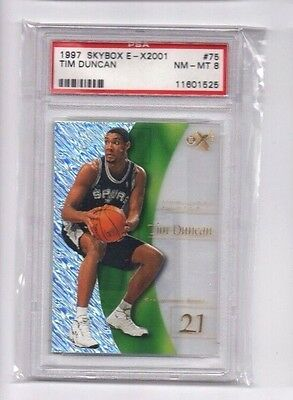 Tim Duncan, (Rookie) 1997-98 EX2001,(Graded), PSA 8 NM-Mint !! !!