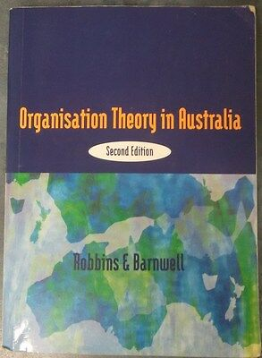 Organisation Theory in Australia, Second Edition by Robbins & Barnwell