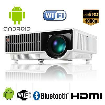 4000Lumens Android OS4.4 WIFI 1080P HD HDMI TV Tuner Input Mutli Home proyector