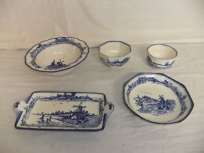 C4 Pottery Royal Doulton - Norfolk - Set of 5 pieces (bowls & tray) vintage 8C3A