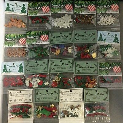 Dress It Up Buttons - Christmas Designs - Craft, Sewing, Scrap Booking....