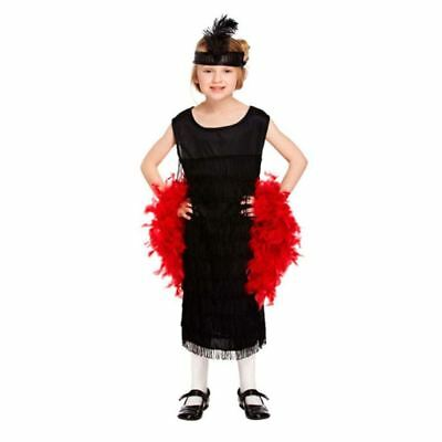 Grils Black Flapper Costume With Tassels Charleston Book Week Party Fancy Dress