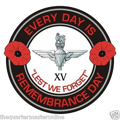 15th Btn Parachute Regiment Remembrance Day Inside Car Window Cling Sticker