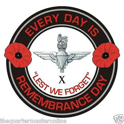 10th Btn Parachute Regiment Remembrance Day Inside Car Window Cling Sticker