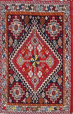 Excellent Geometric 2x3 Shiraz Abadeh Persian Area Rug Oriental Carpet 3'4 x 2'2