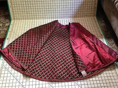 Burgundy & Gold Tree Skirt Gorgeous Luxury Rodeo Home Noel Holiday Christmas