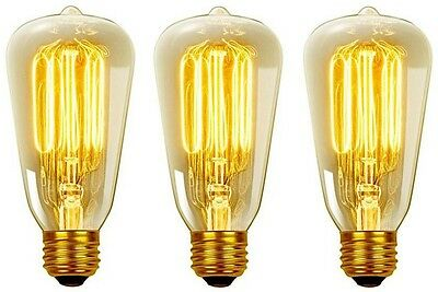 Globe Electric Vintage Edison Filament Light Bulb - Antique Edison (3-Pack)