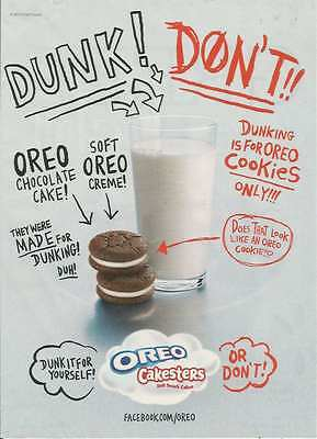 2010 PRINT AD for Oreo cakesters dunk ADVERTISING PAGE