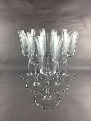"Baccarat BRANTOME Set of 6 Water Wine Goblets Glasses 8 7/8"" tall"
